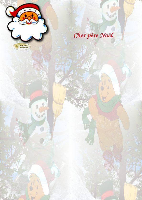Lettres Au Pere Noel A Imprimer